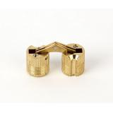 Петля для мебели скрытая D-12, золото