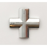 X- элемент хром для плоского профиля 7мм
