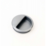Ручка врезная пластм. серый металлик (10;50шт)