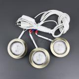 Комплект из 3-х светильников светодиод.,античное золото /теплый/