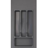 Лоток для столовых приборов 300-350 серый (27х49см)