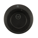 Мойкa GM13 круглая, черная (308), 495мм