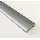 Профиль С16  L-2,8м жесткий декор серебро матовое