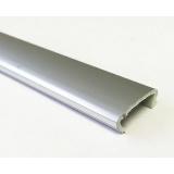 Профиль С16  L-2,8м жесткий декор серебро глянец