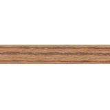 В111 Кромка ПВХ без клея 19х2мм Зебрано темный (100)