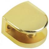 Р513GP.2 Полкодержатель золото, до 8мм,нагрузка (на пару): до 15 кг