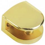 Р512GP.2 Полкодержатель золото, до 6мм,нагрузка (на пару): до 15 кг